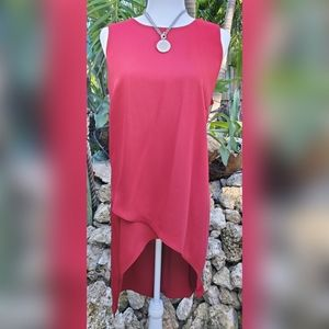 Sleeveless TUNIC with Flowing Hem